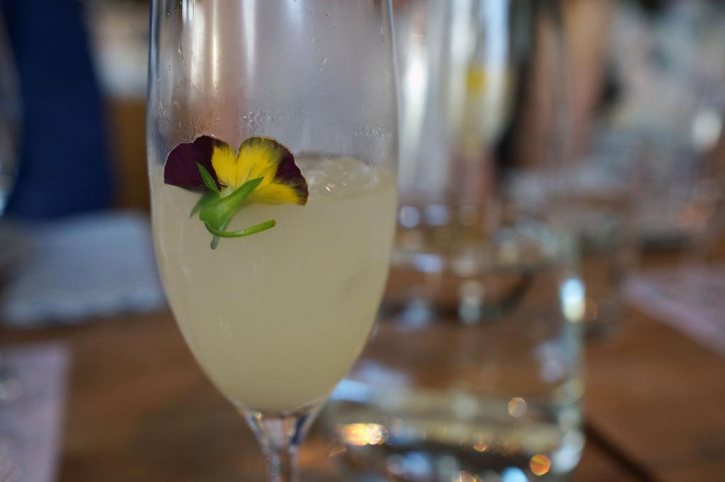 Sake cocktail at tasting by Cooking in Motion at Ostehuset   Norwegian Sake Association