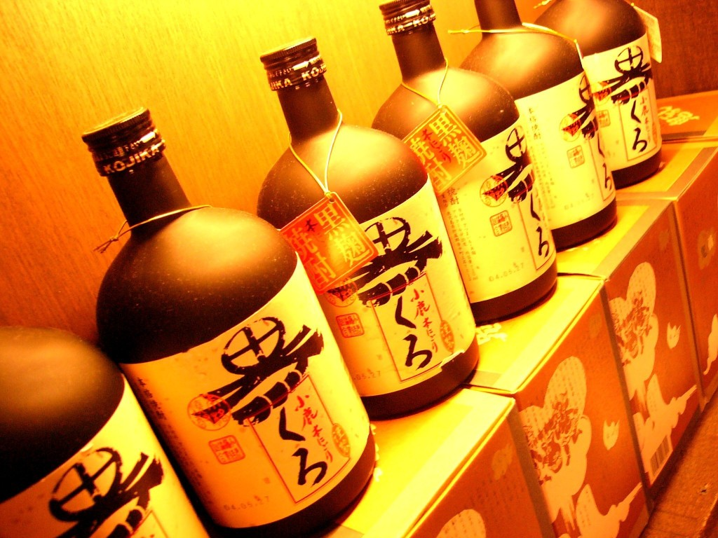 Sake bottles at an izakaya | Norwegian Sake Association