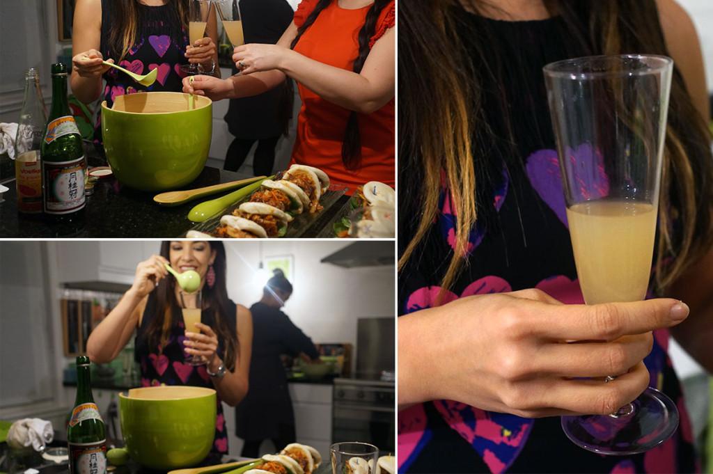 sake punch sake cocktail lemongrass grapefruit ginger, Mabel Moya and Lani Cantor Vatland
