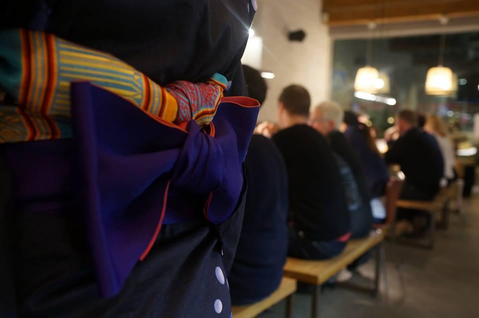 Ostehuset, Stavanger Øst, sake and beer tasting. Lani Cantor Vatland obi belt