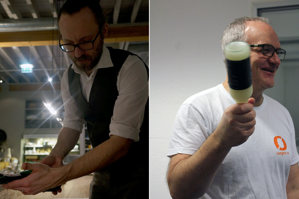 sake beer and cheese tasting Al Greenall and Brock Bennett